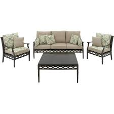 Hanover Patio Furniture Amazon Com Hanover Cortez4pc 4 Piece Outdoor Cortez Patio Set