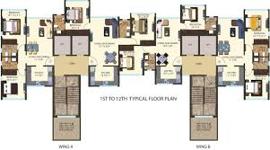 West Wing Floor Plan Kanakia Hollywood Versova Andheri West Mumbai U2013 Grv Realtors