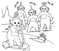 teletubbies umbrellas coloring pages download free printable