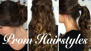 easy diy prom hairstyles 2017 olivia mecca youtube