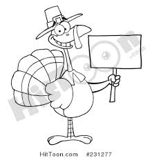 thanksgiving turkey clipart 231277 coloring page outline of a