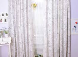 Whote Curtains Inspiration Stunning White Curtains With Gray Pattern Inspiration With