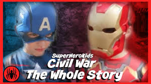 the whole story civil war captain america vs ironman spiderman