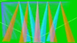 club dj lights green screen animation