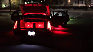 cadillac dts leds hids complete with ghost lights youtube on