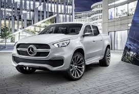 mercedes benz previews x class pickup truck with two concepts