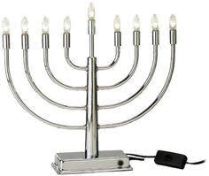 rite lite menorah silvertone electric menorah this and it s safer than using