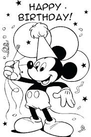 mickey mouse holiday coloring pages printable birthday coloring pages happy birthday cupcake coloring