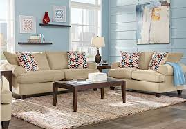 Rooms To Go Living Room Set Park Square Sand 2 Pc Living Room Living Room Sets Beige