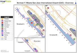 San Jose Map by San Jose Norman Y Mineta San Jose International Sjc Airport