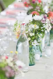 Jar Table L Simple Wildflower Summer Wedding S Quinceanera