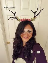 Deer Antlers Halloween Costume Deer Antler Headband Fantasy Hair Accessory Flower Spiritkawaii