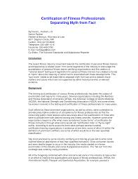 sample personal trainer cover letter guamreview com