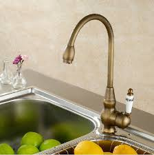 Billa Antique Brass  Ceramic Faucet Deck Mounted Single Handle - Brass kitchen sink