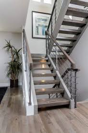 Contemporary Banisters And Handrails Staircases Pinterest White Wood Stain Cable Railing