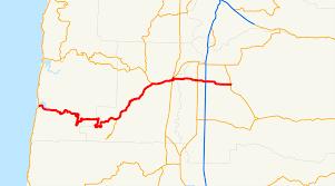 Oregon Waterfalls Map by Oregon Route 34 Wikipedia