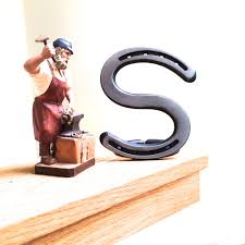 horseshoe decorations for home any horseshoe letter or initial as wall sign wedding cake