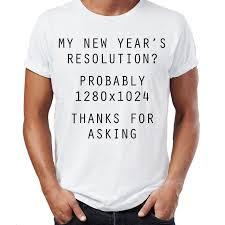 new year t shirts new year resolution computer joke new year gift mens womens