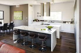 Sleek Kitchen Design Gorgeous Open Floor Kitchen Idea With Sleek White Island And