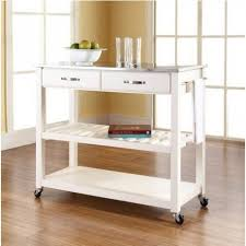 kitchen cart island stainless steel top kitchen cart island in white on casters your