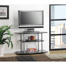 Tall Corner Tv Cabinet Tv Stands Jaxx Blackgrey Corner Tv Stand For Tvs Up To
