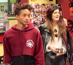 kylie jenner wears red hoodie recently seen on jaden smith daily