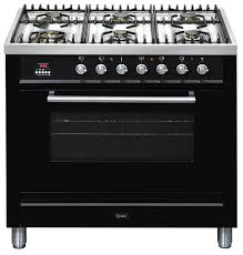 Gas Cooktop 90cm Ilve 90cm Freestanding Gas Cooker With Gas Cooktop Black Buy