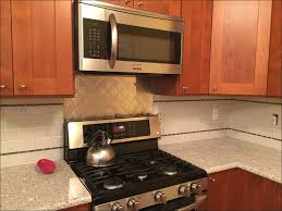 kitchen glass and metal backsplash metal tile backsplash chrome