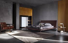 Nightstand Bookshelf Bedroom Grey Wall Ceiling Ceramic Floor Pillow Bed Linen