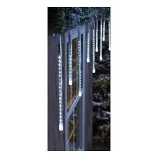 cool white icicle lights phillips led cascading cool white icicle lights amazon co uk