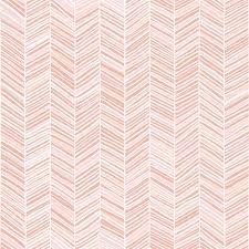 Herringbone Line Wallpaper Beige Peel by Herringbone Hues Of Pastel Peachy Pink By Friztin Wallpaper