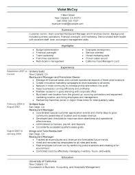 resume exles for fast food resume restaurant resume exle