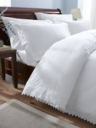 balm white king size embroidered duvet cover co uk kitchen home