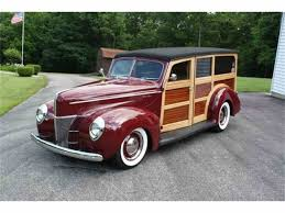 green station wagon with wood paneling classic ford woody for sale on classiccars com