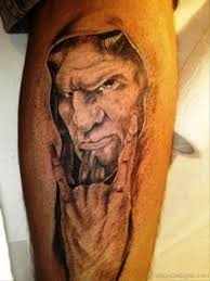 61 excellent evil tattoos on leg