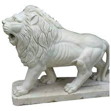 marble lion marble lion statue at rs 300 marble statue new k k