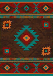 Brown And Turquoise Area Rugs Whisky River Turquoise Area Rug Cabin Decor Western Decor