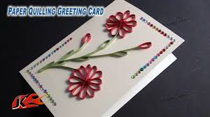 diy easy paper quilling greeting card without tool how to make