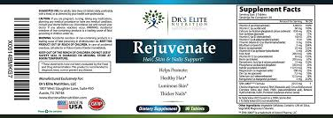 dr u0027s elite rejuvenate hair skin and nails vitamins with biotin hai