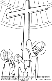 Snowflake Clockwork Exaltation Of The Cross Coloring Page Coloring Pages For September