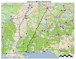 Fort Polk Louisiana Map by Jacksons Military Road Route