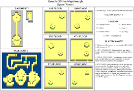 breath of fire spyre tower map for game boy advance by