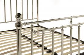 serene solomon 6ft super king size nickel metal bed frame by