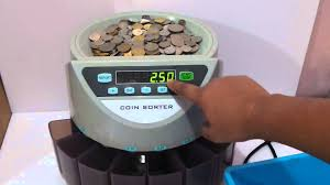 coin counter table top coin counting machine youtube