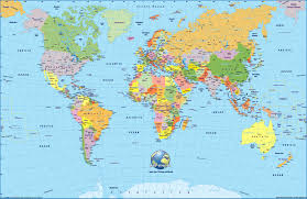 Spain World Map by English Learning Maps
