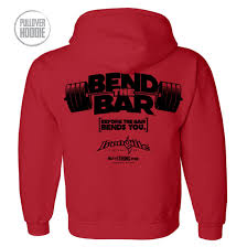 bend the bar weightlifting hoodie ironville clothing