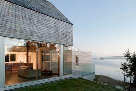 Modernday Houses by Cedar Shingles Cascading Down A Modern Day Courtyard House