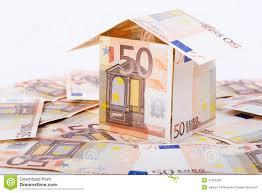 house built with european money stock photo image 47925283