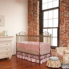casablanca premiere iron crib in venetian gold and nursery