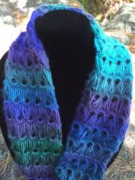 broomstick lace infinity scarf peacock broomstick lace infinity scarf 30 etsy